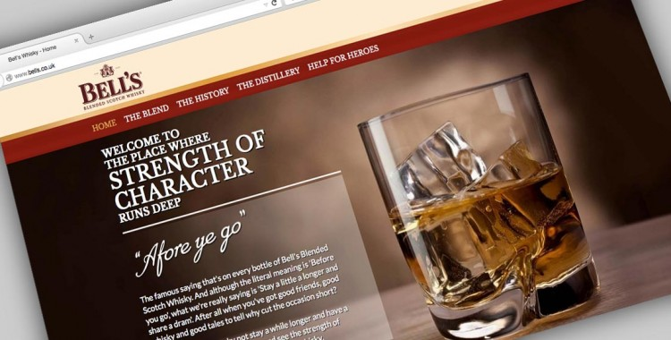 Portfolio: Bell's Whisky website